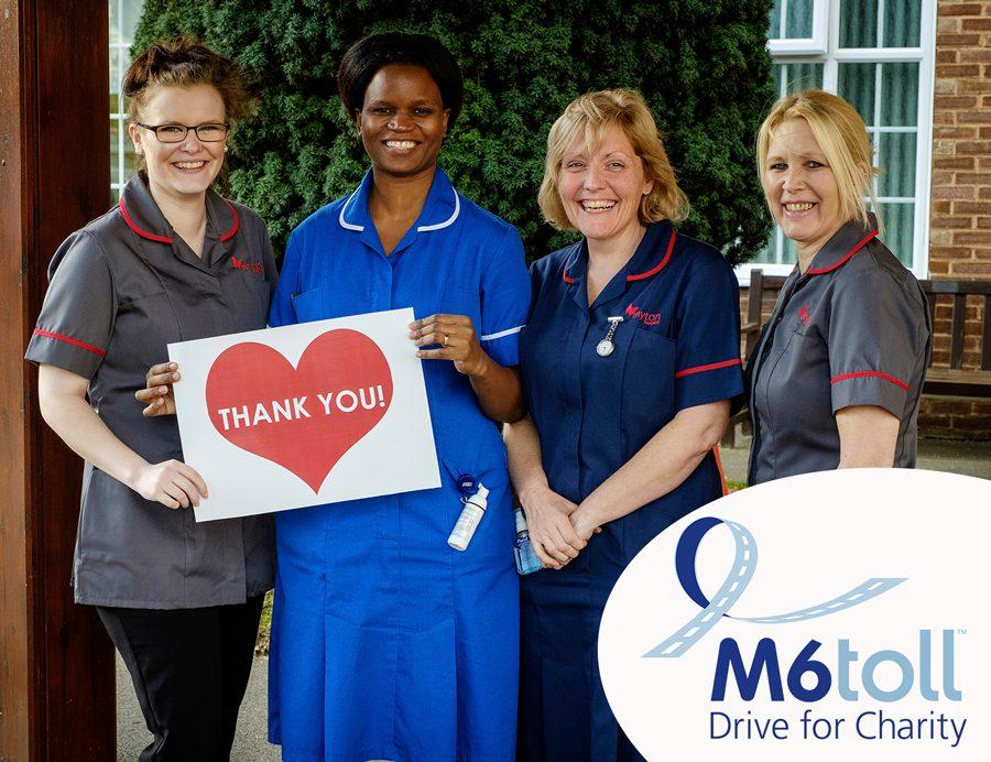 staff at Myton Warwick thank M6toll